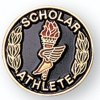 Scholar Athlete Lapel Pin Academic Trophy Awards