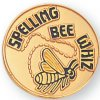 Spelling Bee Whiz Lapel Pin Academic Trophy Awards
