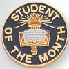 Student of the Month Lapel Pin Academic Trophy Awards