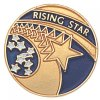 Rising Star Lapel Pin Corporate Lapel Pins