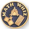 Math Whiz Lapel Pin Scholastic Subjects