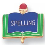 Spelling Lapel Pin Academic Trophy Awards