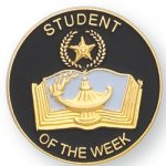 Student of the Week Lapel Pin Academic Trophy Awards