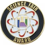 Science Fair Award Lapel Pin Academic Trophy Awards