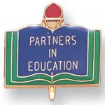 Partners in Education Lapel Pin Academic Trophy Awards