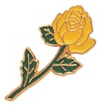 Long Stem Yellow Rose Lapel Pin Civic Association Lapel Pins
