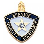 Service Quality Excellence Lapel Pin Civic Association Lapel Pins