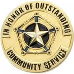Outstanding Community Service Lapel Pin Civic Association Lapel Pins