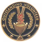 Outstanding Volunteer Lapel Pin Civic Association Lapel Pins