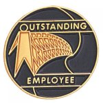 Outstanding Employee Lapel Pin Corporate Lapel Pins