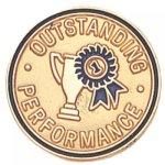 Outstanding Performance Lapel Pin Corporate Lapel Pins