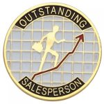 Outstanding Salesperson Lapel Pin Corporate Lapel Pins
