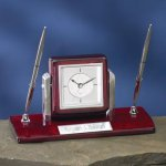 Dual Clock Pen Holder Desk Pen Sets