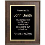 Cherry Finish Corporate Plaque Economy Plaque Awards