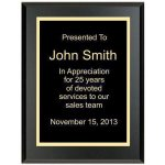 Matte Black Recognition Plaque Economy Plaque Awards