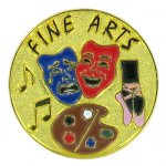 Fine Arts Lapel Pin Music, Art, and Drama