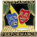 Outstanding Performance Drama Lapel Pin Music, Art, and Drama