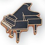 Piano Lapel Pin Music, Art, and Drama
