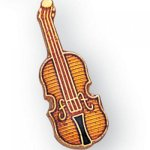 Violin Lapel Pin Music, Art, and Drama
