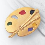 Painting Palette Lapel Pin Music, Art, and Drama