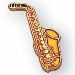 Saxophone Lapel Pin Music, Art, and Drama