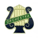 Orchestra Music Lyre Lapel Pin Music, Art, and Drama