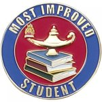 Most Improved Student Lapel Pin Scholastic Lapel Pins