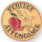 Perfect Attendance Lapel Pin Scholastic Lapel Pins