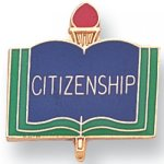 Citizenship Lapel Pin Scholastic Subjects