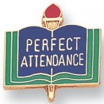 Perfect Attendance Lapel Pin Scholastic Subjects