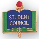 Student Council Lapel Pin Scholastic Subjects