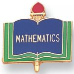 Mathematics Lapel Pin Scholastic Subjects