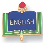 English Lapel Pin Scholastic Subjects