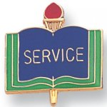 Service Lapel Pin Scholastic Subjects