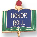 Honor Roll Lapel Pin Scholastic Subjects