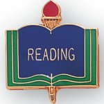 Reading Lapel Pin Scholastic Subjects