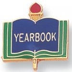 Yearbook Lapel Pin Scholastic Subjects