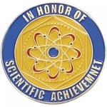 In Honor of Scientific Achievement Lapel Pin Scholastic Subjects