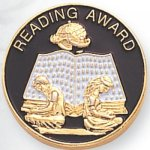 Reading Award Lapel Pin Scolastic Lapel Pin Awards