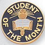 Student of the Month Lapel Pin Scolastic Lapel Pin Awards