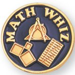 Math Whiz Lapel Pin Scolastic Lapel Pin Awards
