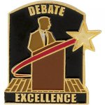 Debat Excellence Lapel Pin Scolastic Lapel Pin Awards