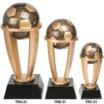Soccer Tower Resin Sport Ball Awards - Large