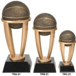 Basketball Tower Resin Sport Ball Awards - Large