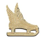 Winged Ice Skate Chenille Pin Sports Lapel Pins