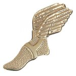 Winged Foot Chenille Pin Sports Lapel Pins